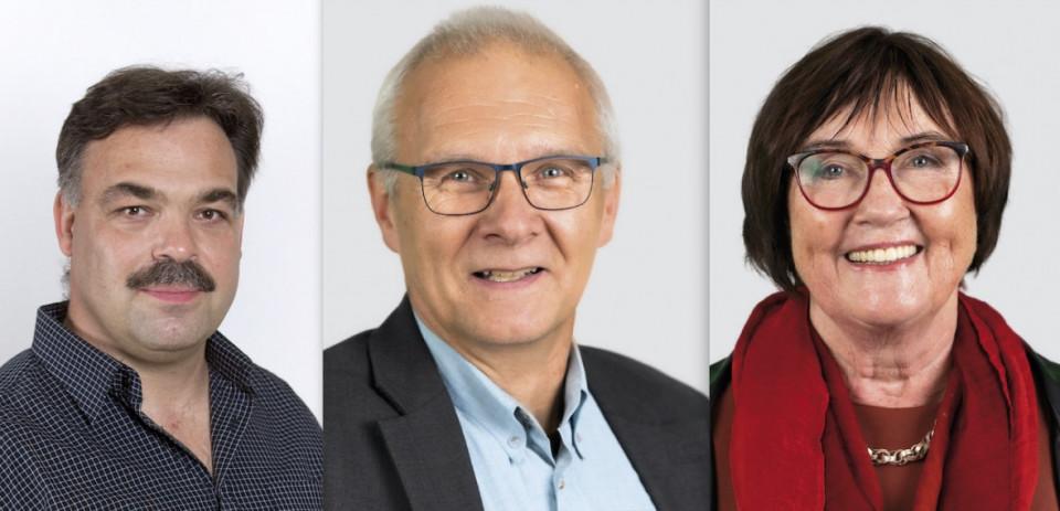 Vlnr: Jens Jährling, Christoph Massoth,  Dr. Astrid Wiemann